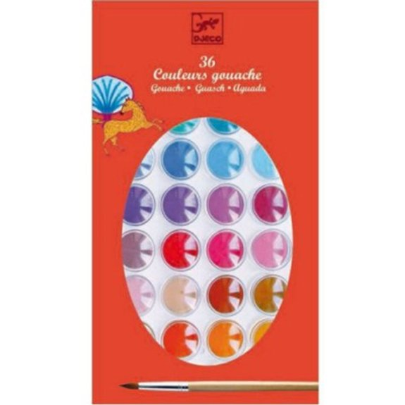 Peinture Gouache : 36 couleurs