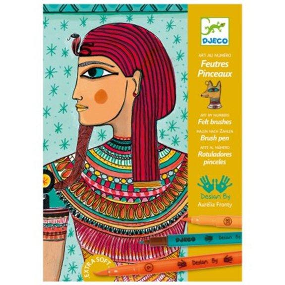 Feutres Pinceau : Art au numéro : Art Egyptien