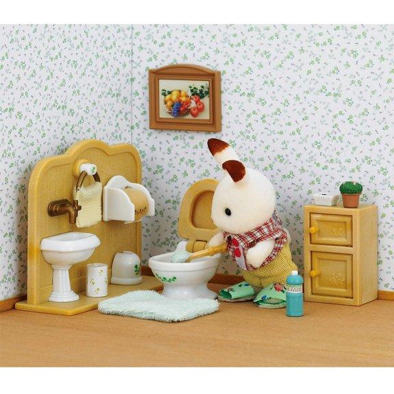 Toilettes et Frère Lapin chocolat Sylvanian Families 2203