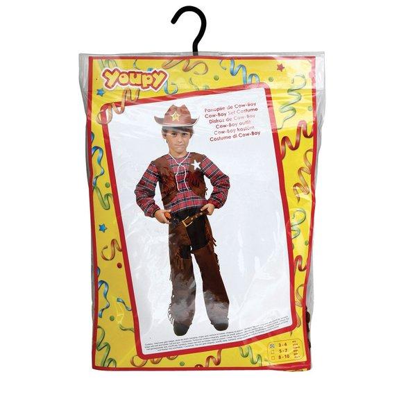 Cow-boy : chapeau, pistolet et étui 8/10 ans