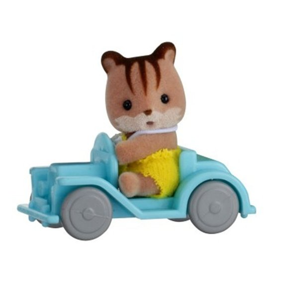 Sylvanian Family 5203 : Valisette figurine ecureuil et sa voiture