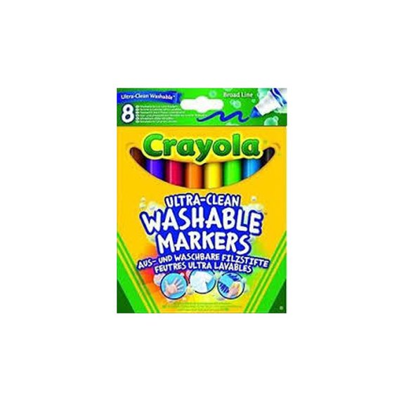 8 maxi crayons en cire lavables