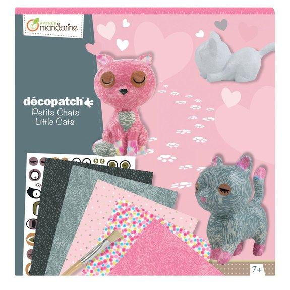 Coffret créatif Décopatch Kit Chats