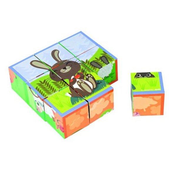 Puzzle 9 cubes : Kubkid Les animaux de la ferme
