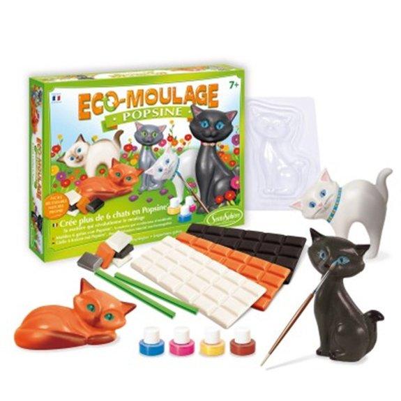 Eco-moulage - popsine - les chats et chatons
