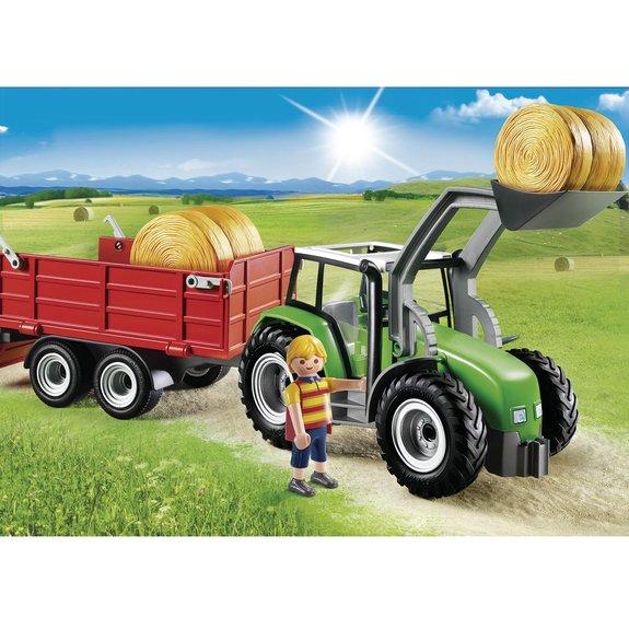 Tracteur avec pelle et remorque - Playmobil Country 6130