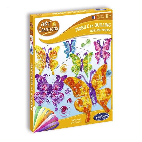 Art et Créations : Mobile en Quilling - Papillons