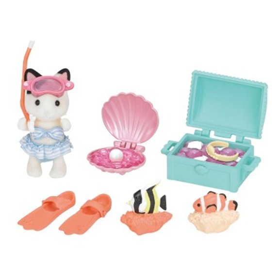 Set de chasse au trésor aquatique et figurine