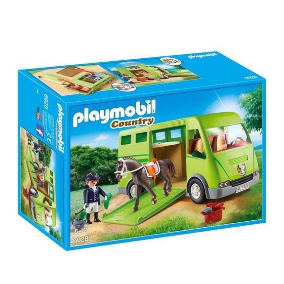 Cavalier avec van et cheval Playmobil Country 6928