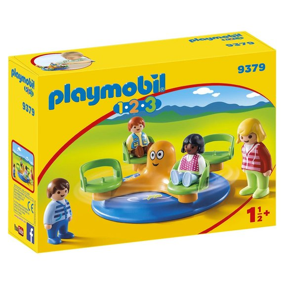 Enfants et manège Playmobil 1.2.3 9379