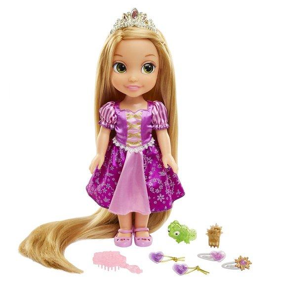 Poupée 38 cm Raiponce cheveux longs et accessoires