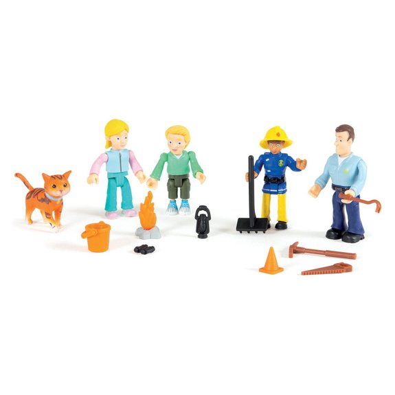 Coffret 5 figurines Sam le pompier