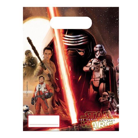 6 sachets d'anniversaire Star Wars VII