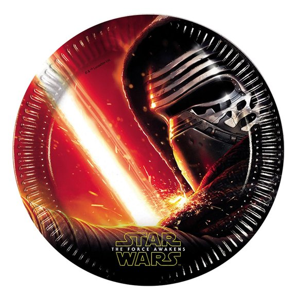8 assiettes Star Wars VII