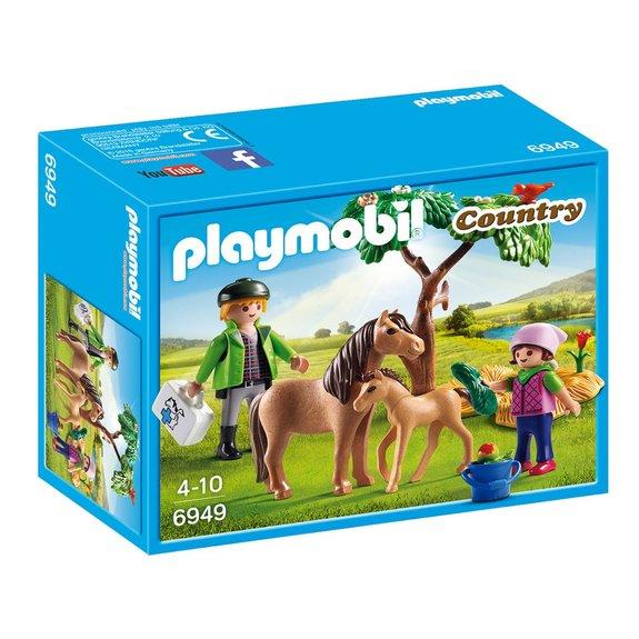Vétérinaire avec enfant et poneys Playmobil Country 6949